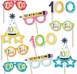 product image for Big Dot of Happiness Happy 100th Day of School Glasses - Paper Card Stock 100 Days Party Photo Booth Props Kit - 10 Count