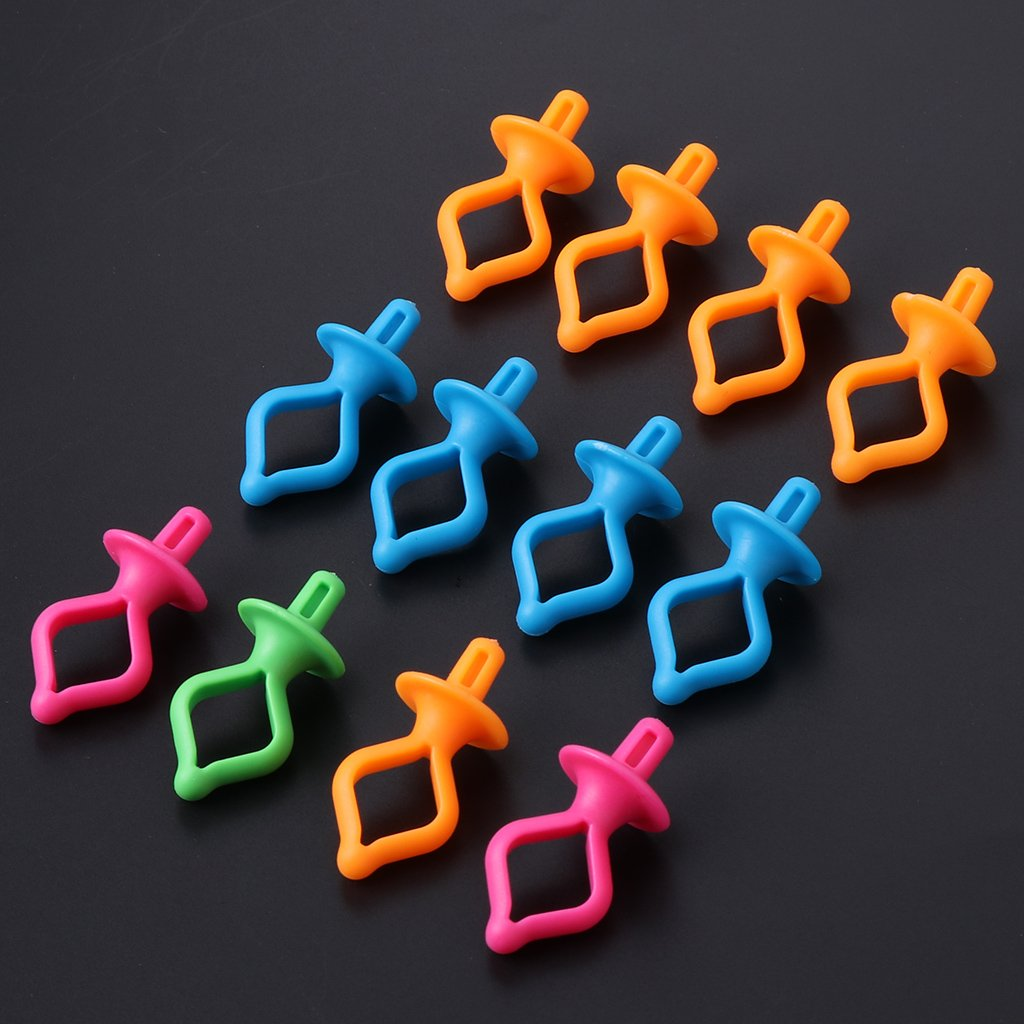 Hacloser 12 Pcs//set Assorted Color Silicone Thread Clips Bobbin Holders Clips Clamps Tool