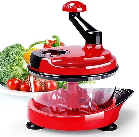 Compra Owenqian Máquina de Cortar del Cortador Robot de Cocina multifunción Cocina batidora Manual Ensalada Fabricante (Color : Red, Size : 25x19x25.5cm) en Amazon.es