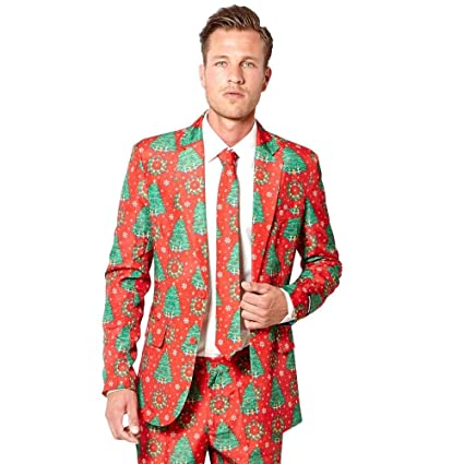 977f0e2d5676ac Opposuits Adult Christmas Tree Suitmeister Suit Costume: Amazon.ca: Toys &  Games
