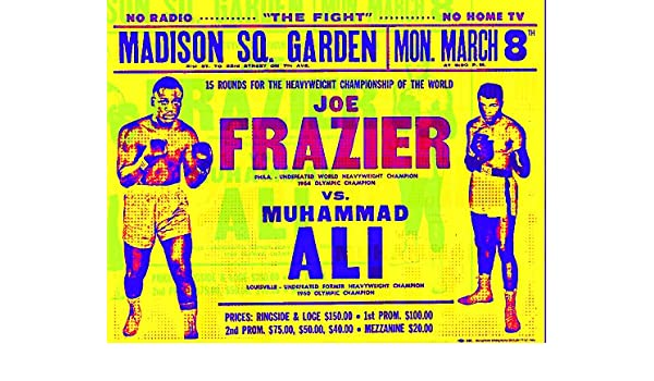 Muhammad Ali vs Frazier  1971 boxing fight poster Battle of the Champions,