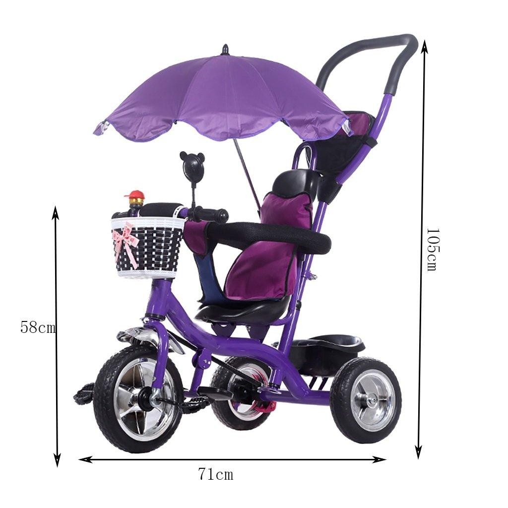 Amazon.com: Carro de niños triciclos bicicletas 1-3-5 años ...