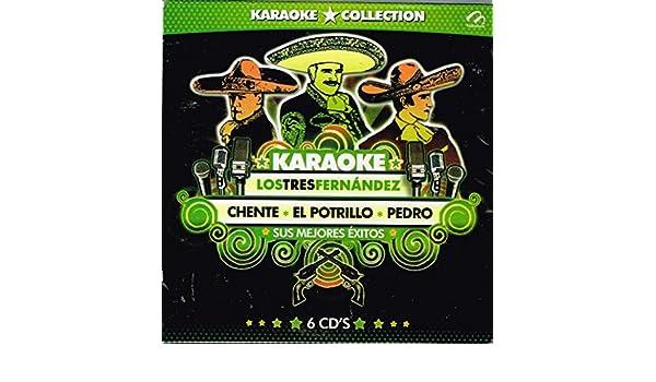 VARIOS ARTISTAS - KARAOKE COLLECTION LOS TRES FERNANDEZ CHENTE, EL POTRILLO, PEDRO [6 CDs] IMPORT. - Amazon.com Music