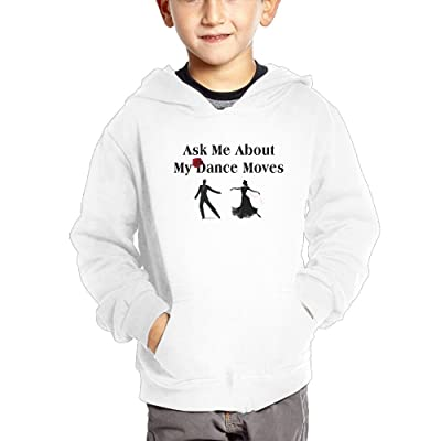 Ngng Hoodies Ask Me About My Dance Moves Girls' Kids Hooded Pullover Cotton Hoodies With Pocket