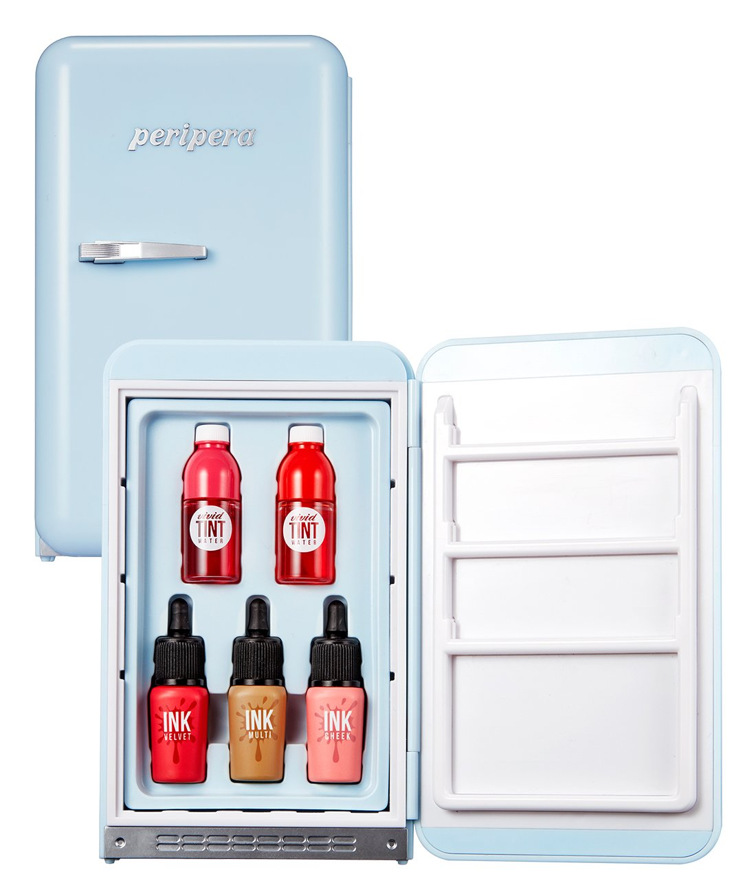 Peripera Peri's Mini Fridge Training Material Daldal Factory 0.12 x 0.07, 0.09 x 0.10 Ounce 002 Daldal Blue