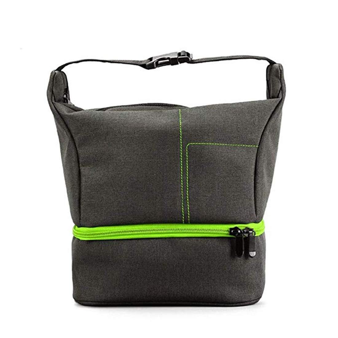 写真パッケージカメラ機器収納袋肩斜め防水一眼レフカメラバッグ (色 : Gray with green) B07S4GVRGD Gray with green