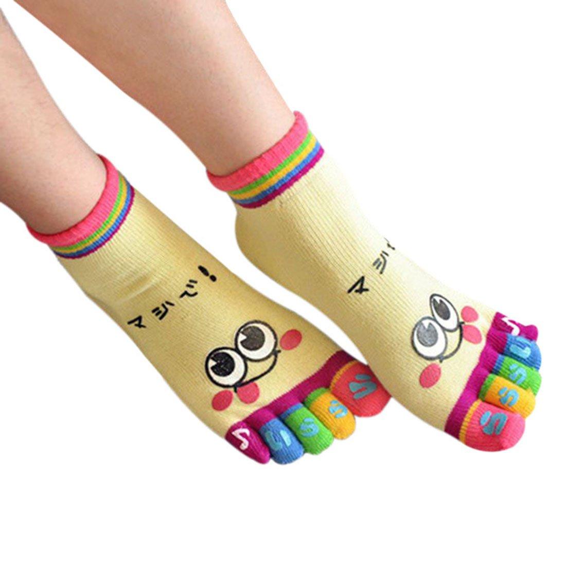 Freahap Children Socks Baby 5 Finger Socks Cotton Toe Socks for Kids Grey