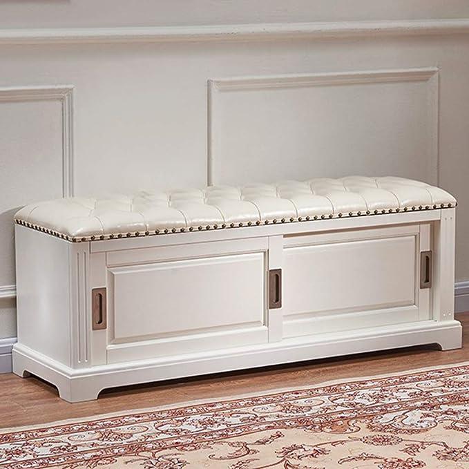 Amazon.com: CXLO Shoe Rack Bench with Cushion Upholstered ...