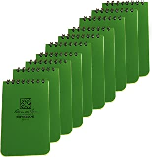 product image for Rite in the Rain 935 Green Tactical Pocket Notebook 3-inch by 5-inch, 10-Pack