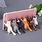Zhaoyun 6 Pack Cat Smart Phone Stand,Cute Cat Sucker Holder for Tablets,Any Smart Phone,Compatible with iPhone/Samsung/Android/iPad