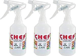 Food Grade Spray Bottle BPA Free Sprayer 0.5 Liter / 16 oz Food Safe BBQ Sprayer 3 pack
