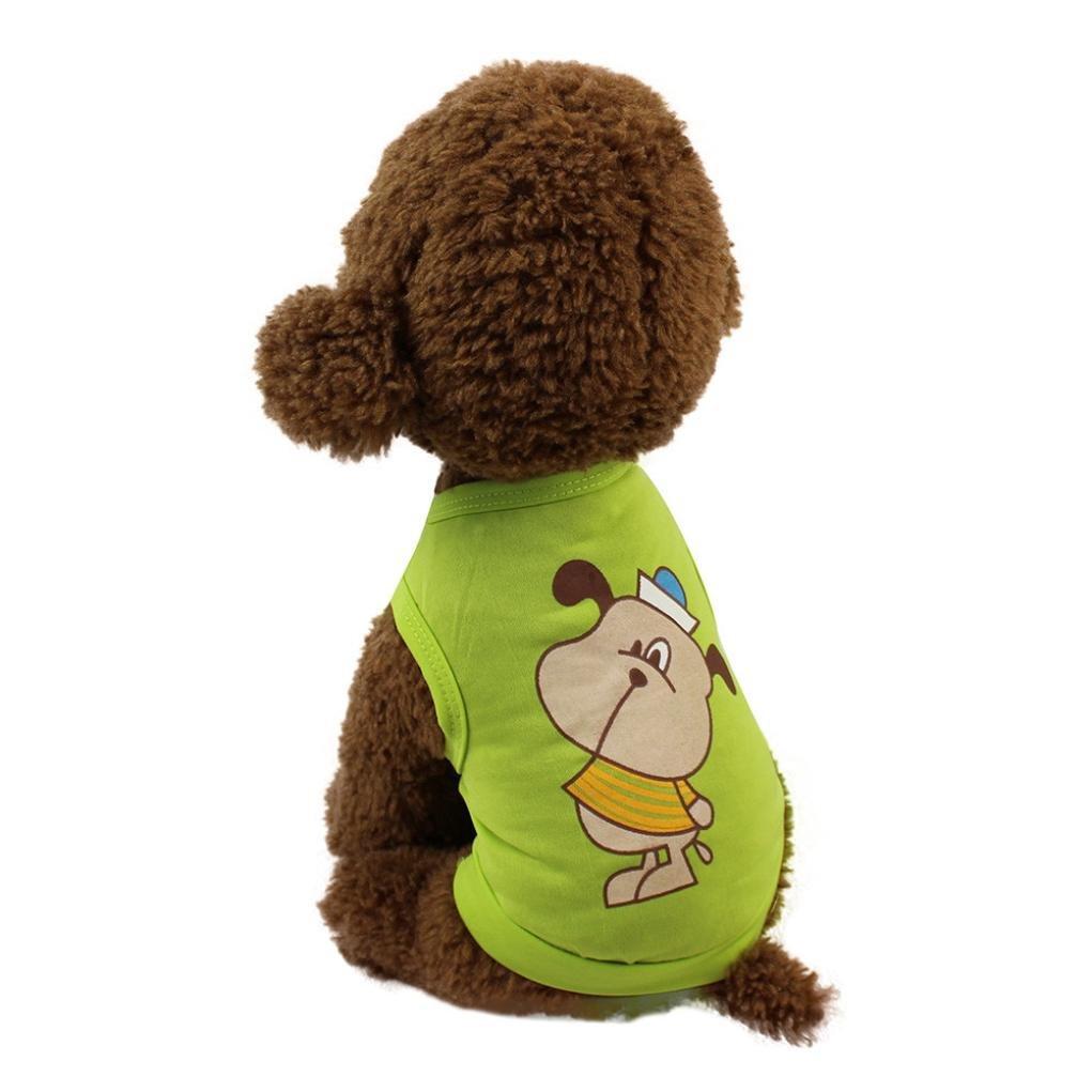 DIGOOD Medium Small Dog Cat Cattoon Doggy Print Sleeveless T-Shirt Pet Puppy Fashion Vest Tops Clothes