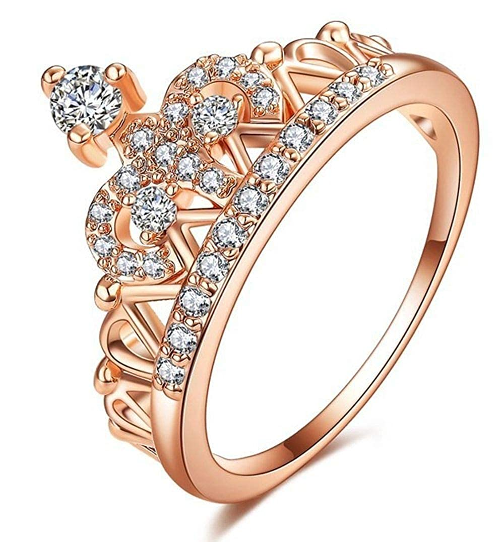 Gemstone Ring Morganite Engagement Ring Pink Oval CZ Ring Wedding Ring Copper Unique Ring Promise Ring White Gold Plated CZ Ring