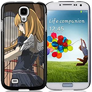 Popular And Unique Designed Cover Case For Samsung Galaxy S4 I9500 i337 M919 i545 r970 l720 With Dogs Girl Blonde Wings Castle black Phone Case