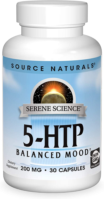 SOURCE NATURALS Serene Science 5-HTP 200 Mg Capsule, 30 Count