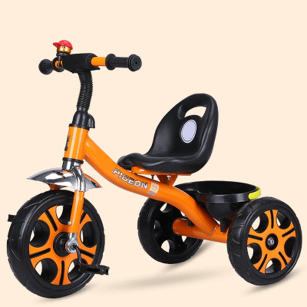 HAIZHEN マウンテンバイク 子供の三輪車1-6歳の軽量自転車非膨張防爆フォーム車輪自転車 新生児  オレンジ B07DLCTR93