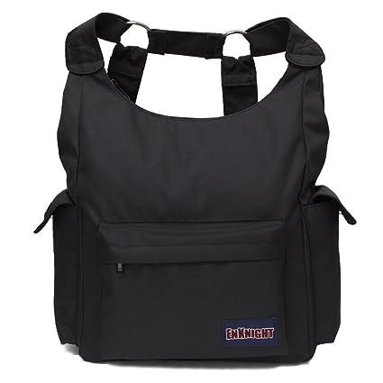 896ede801c ENKNIGHT Fashion Backpacks Nylon Handbag Shoulder bags Casual Daypack  Schoolbag Black
