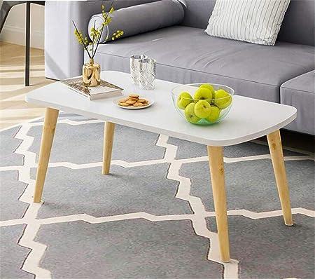 STEAM PANDA Mesas de Centro para Sala de Estar Pequeño, Blanco, Simple, Simple y Simple, Mesa de té, Muebles, 80x40 x 42 m B: Amazon.es: Hogar