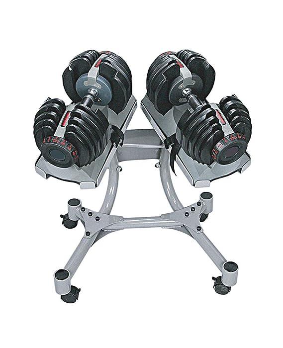 SET 2 Mancuernas ajustables profesional de 40kg. 1090 con soporte ...