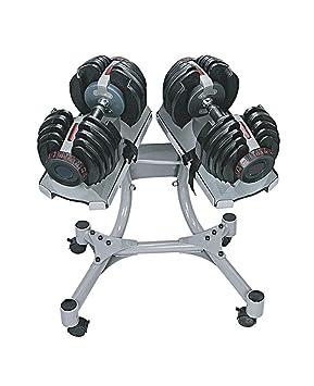 SET 2 Mancuernas ajustables profesional de 40kg. 1090 con soporte: Amazon.es: Deportes y aire libre