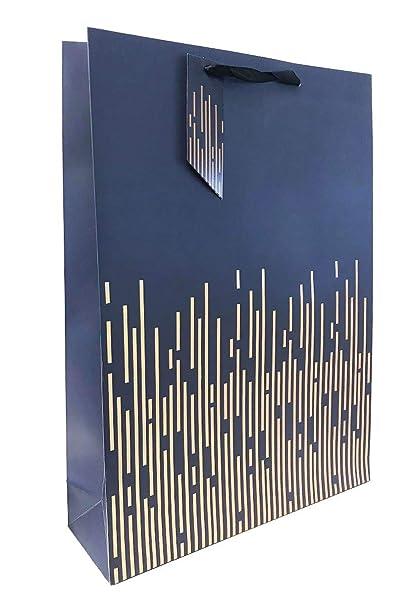 Bolsa de regalo de rayas de papel de aluminio azul extra ...