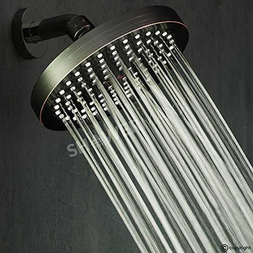 ShowerMaxx Luxury Spa Grade Rainfall High Pressure Shower Head 6"