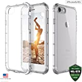 ZAAP® Defender Shock-Absorbing protective and Anti-Scratch Transparent case /cover with TPU bumper for iphone 6/6S( Transparent/Clear)