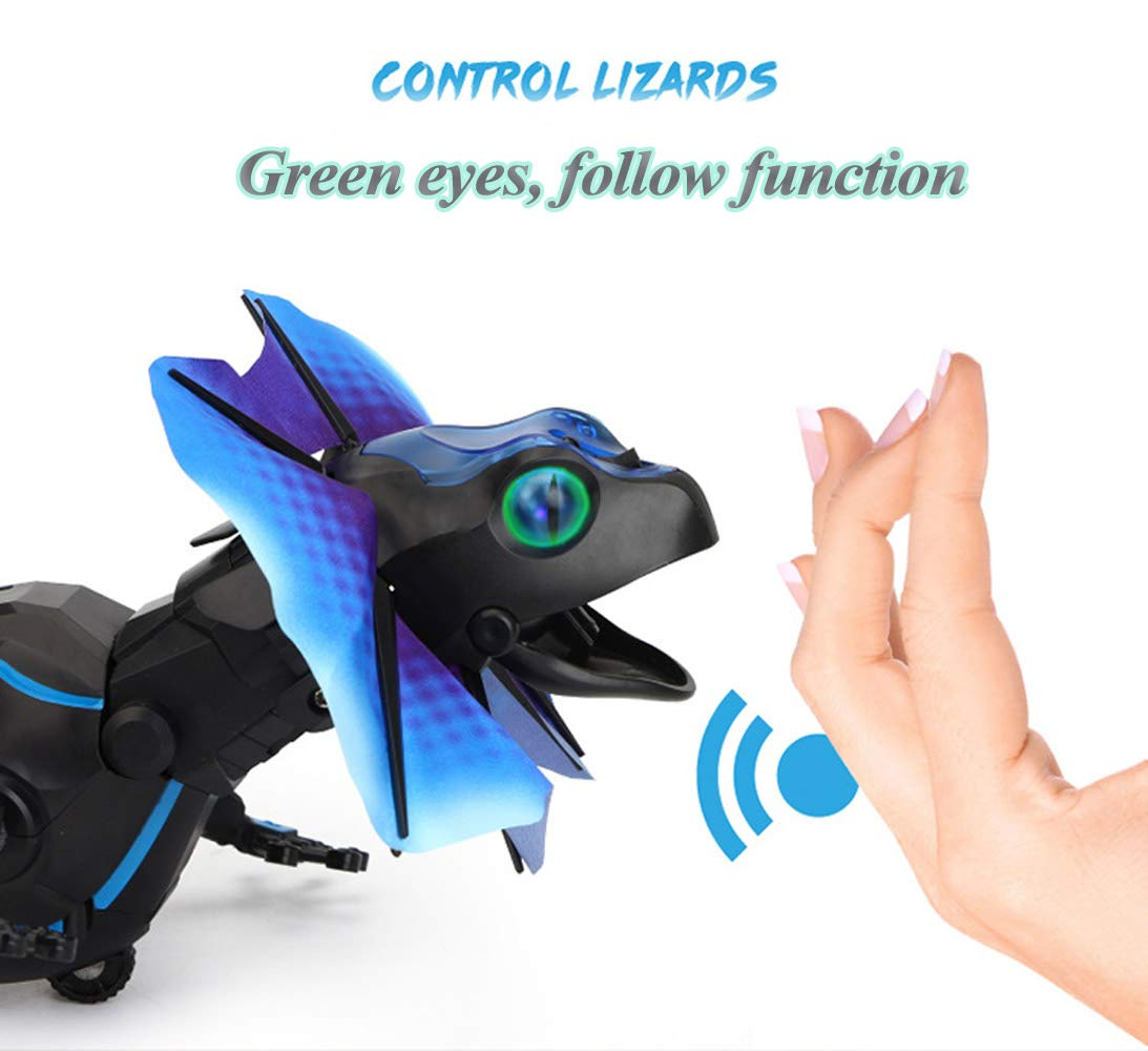 SOWOFA RC Animals Remote Controls Infrared Sensing Lizard Realistic Toy Moving Walking Color Change w/ Sound Lighting Electric Pet Joke Toys by SOWOFA (Image #4)