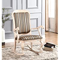 ACME Furniture 59386 Sharan Rocking Chair, White Washed