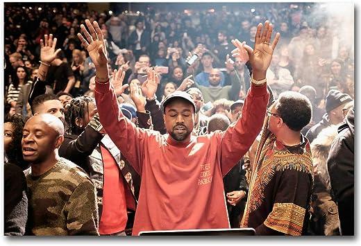 Kanye West The Life Of Pablo Silk Poster Rap HipHop Super Star 12x18 24x36