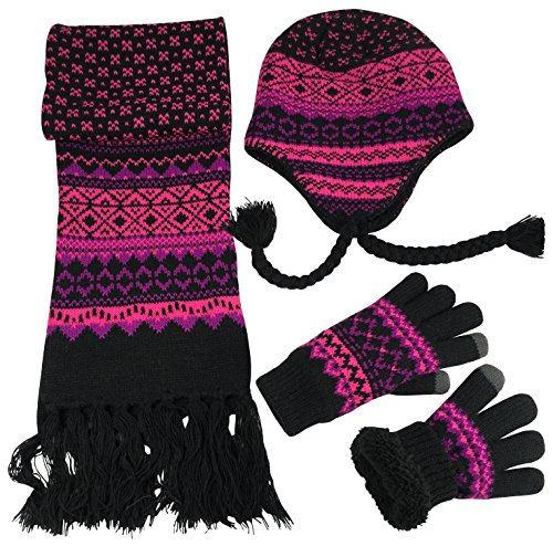 Pink Hat Gloves - 7