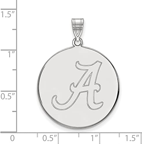 Solid 925 Sterling Silver Official Auburn University XL Extra Large Big Enamel Disc Pendant Charm 32mm x 25mm