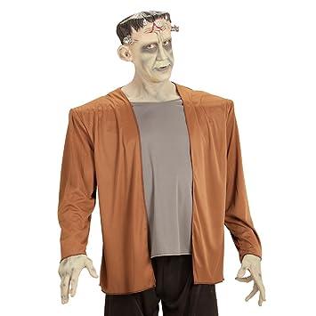 Careta de Halloween monstruo Traje Frankenstein XL 54 Vestimenta horror Ropa monstruo adulto Disfraz hombre noche