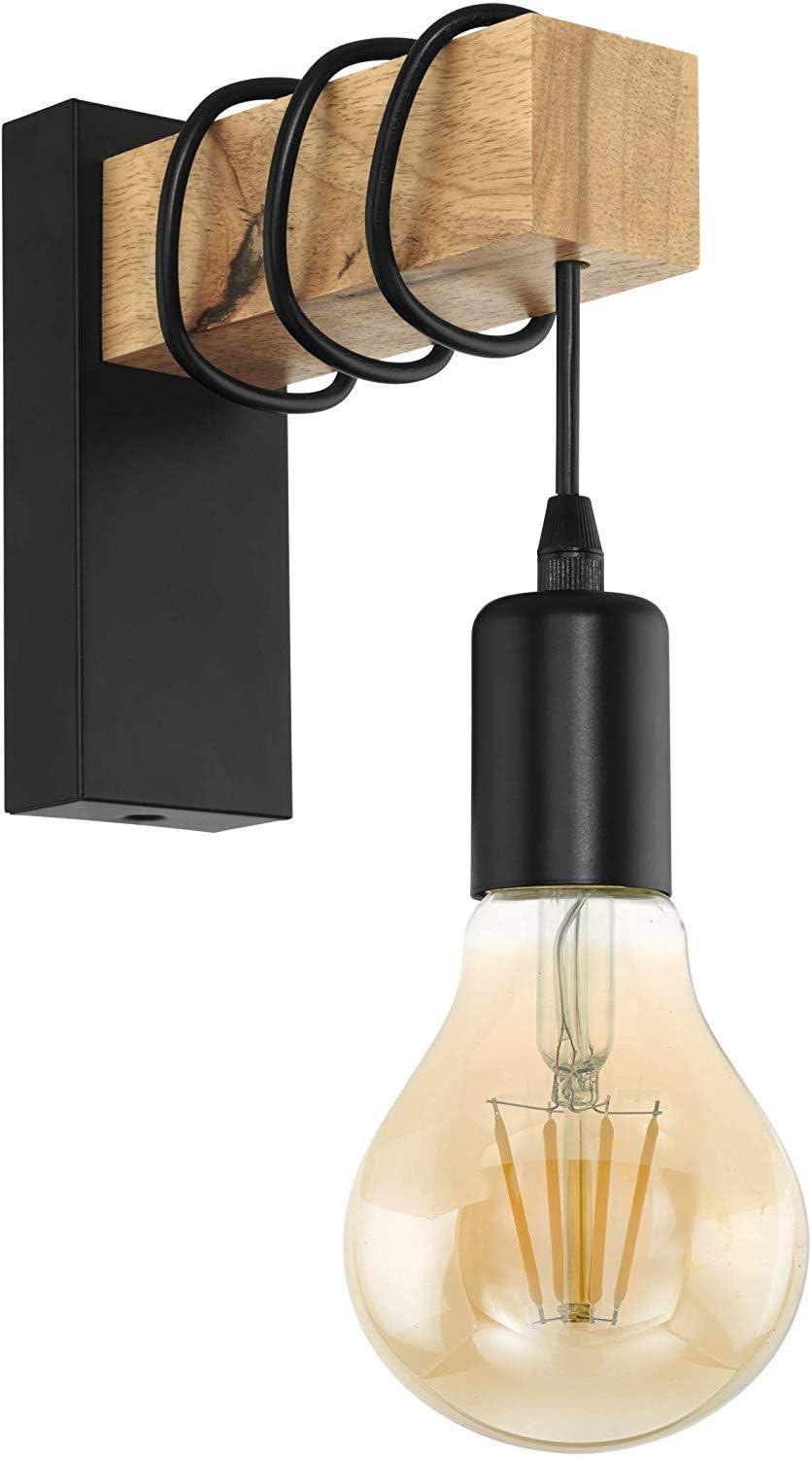 EGLO Townshend 95499 - Lámpara colgante de madera (E27, 6 luces)