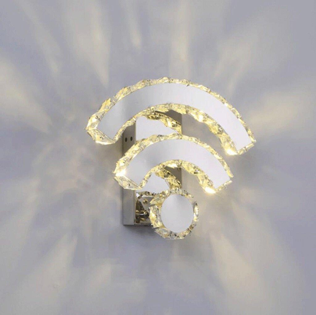 WYQmm Einfache kreative Wifi Kristall Wandleuchte führte Schlafzimmer Nachttisch Lampe Aisle Hotel Projekt Wandleuchte (Farbe   B-Warmweiß)