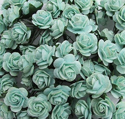 Desertcart ratree shop mulberry paper buy ratree shop mulberry 50 pcs mini rose 10 15 mm mint green mulberry paper flowers handmade craft project cardmaking floral valentine products from thailand mightylinksfo
