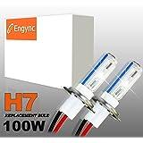 Engync® 2x H7 Lampes Ampoules Xénon HID de Remplacement 100W 12V Couleur 10000K pour Voiture