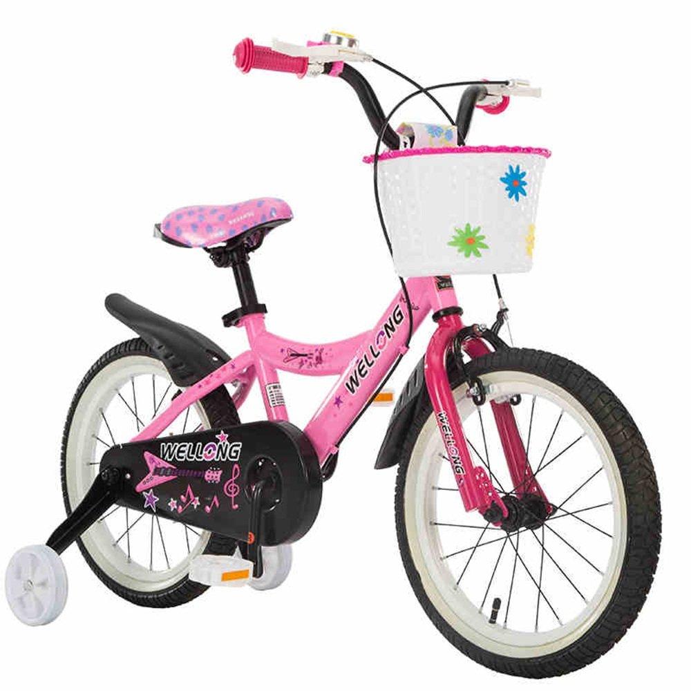 HAIZHEN マウンテンバイク 子供用自転車 ピンクブラック サイズ:12インチ、14インチ、16インチ アウトドアアウト 新生児 B07CCKG1Q416 inch