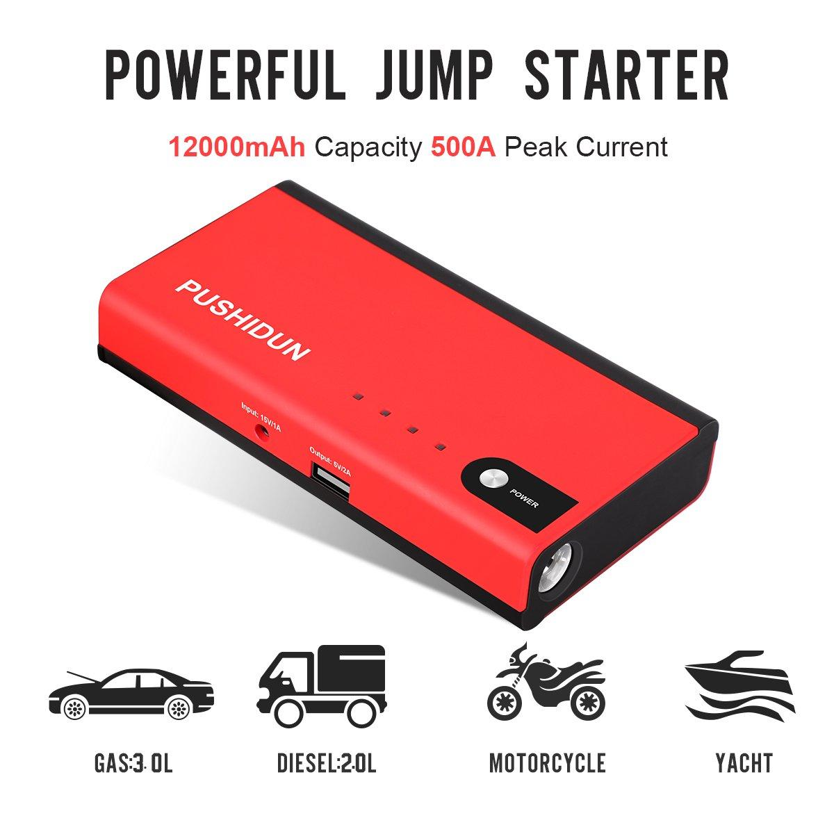 12000mAh AUTO STARTHILFE AKKU LADEGERT JUMPSTARTER 3.0L Gas 2.0L ...
