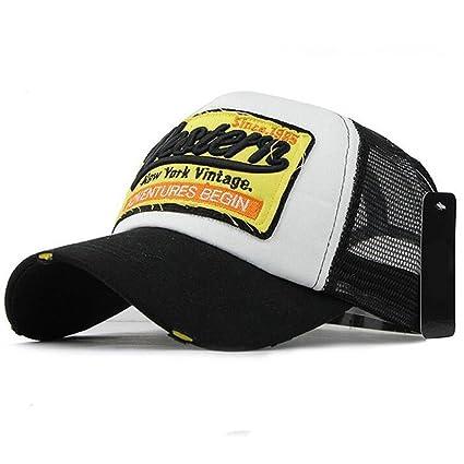 5821cff915979 ❤️Btruely HerrenNueva unisex gorra de béisbol algodón mezclado motocicleta  Gorra molienda borde haga viejo Sombrero