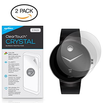 Movado Connect Screen Protector, BoxWave [ClearTouch Crystal (2-Pack)] HD