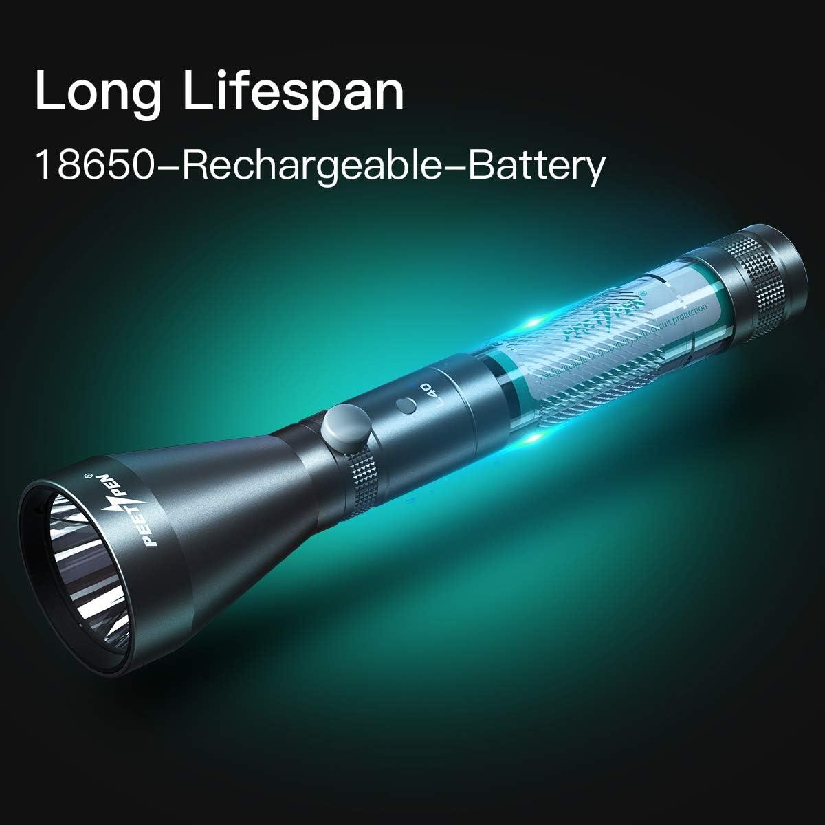 PEETPEN L40 para camping Linterna LED resistente al agua USB recargable