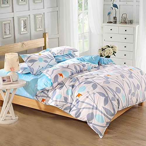 Vaulia Lightweight Microfiber Duvet Cover Sets, Reversible Print Pattern Design