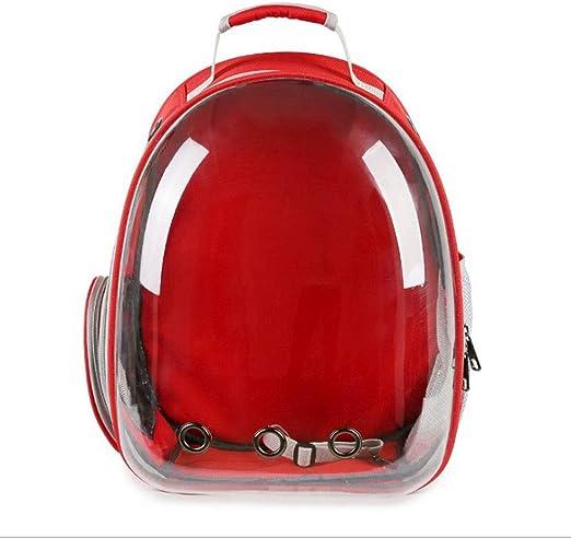Lovingroy999 Mochila para Mascotas Bolsa para Espacios Transparentes Estuche portátil para Llevar Bolsas de Hombro para el Pecho Bolso Bolsas para Perros Jaula para Gatos (Color : Red): Amazon.es: Productos para mascotas