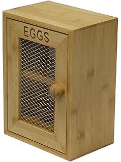 Wooden Egg Box Oeufs Amazoncouk Kitchen Home