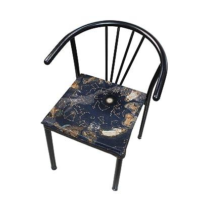 Bardic FICOO Home Patio Chair Cushion Nebula Constellation Square Cushion Non-Slip Memory Foam Outdoor Seat Cushion, 16x16 Inch: Home & Kitchen