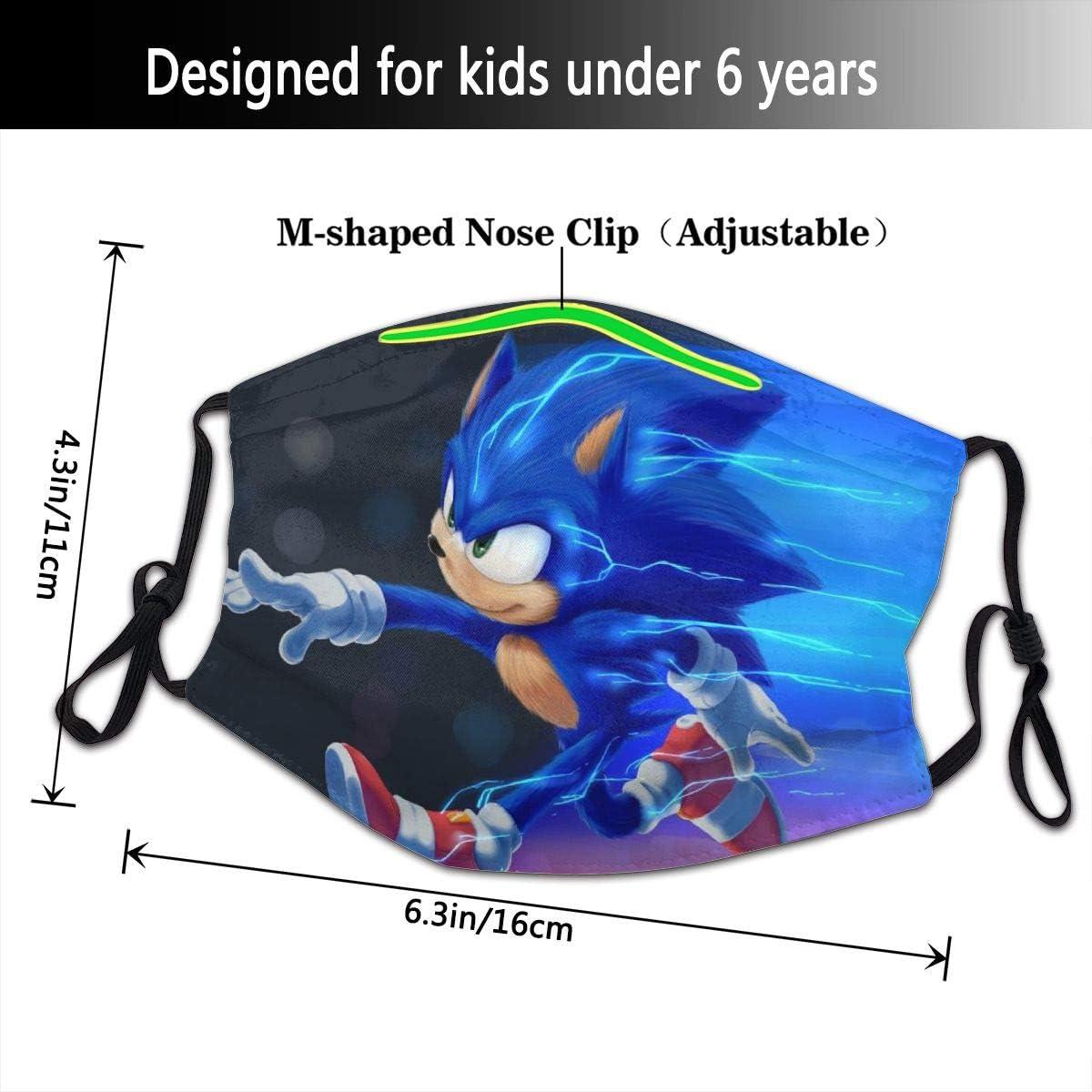 Amazon Com Qeqwrtui Sonic 2020 The Hedgehog Children Dust Mask Reusable Half Face Cover Balaclava Bandanas For Outdoor One Piece Clothing