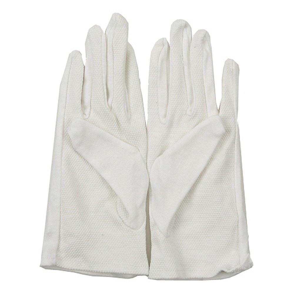 Cotton Fabric Grip Dot Palm Glove - White M