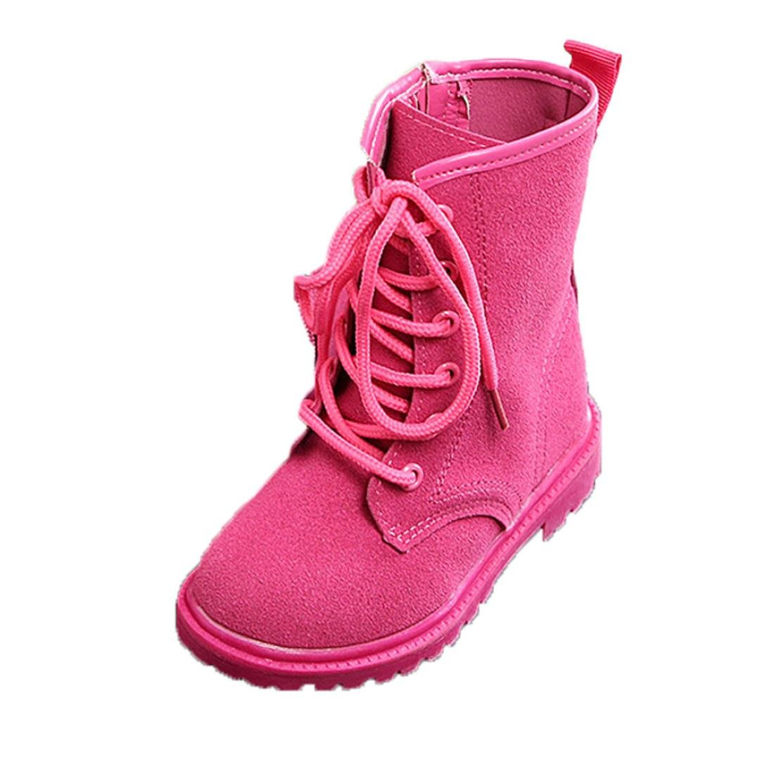 Celendi Fashion Boys and Girls Shoes Winter Martin Boots Prewalker Middle Boots