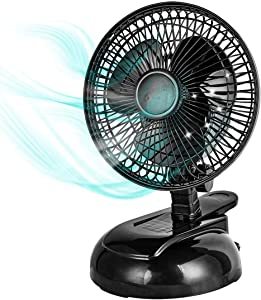 BEYOND BREEZE 6-inch Convertible Desk & Clip on Fan 2 Quiet Speeds Adjustable Tilt Table Fans with Steel Safety Grill, Ideal For The Home, Office, Dorm